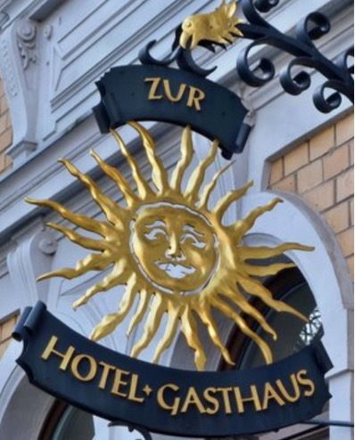 """The picture is from the Hotel/restaurant """"Zur Sonne"""" in Weimar, where Goethe lived."""